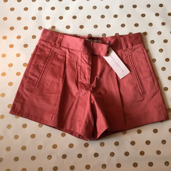 French connection hot pants in rust red size 2